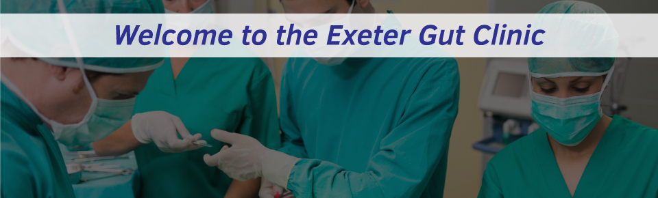 Exeter Gut Clinic treating gastrointestinal tract and liver conditions in Exeter homepage slider