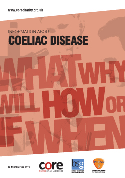 core information about coeliac disease leaflet download as a pdf