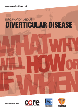 core information about diverticular disease leaflet download as a pdf