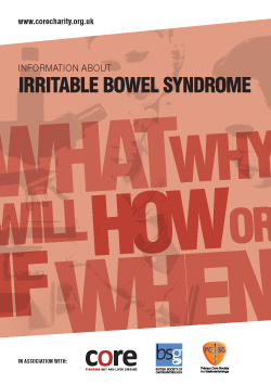 core information about Irritable Bowel Syndrome (IBS) leaflet download as a pdf