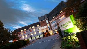 Nuffield Health Exeter Hospital exterior consultations with Exeter Gut Clinic